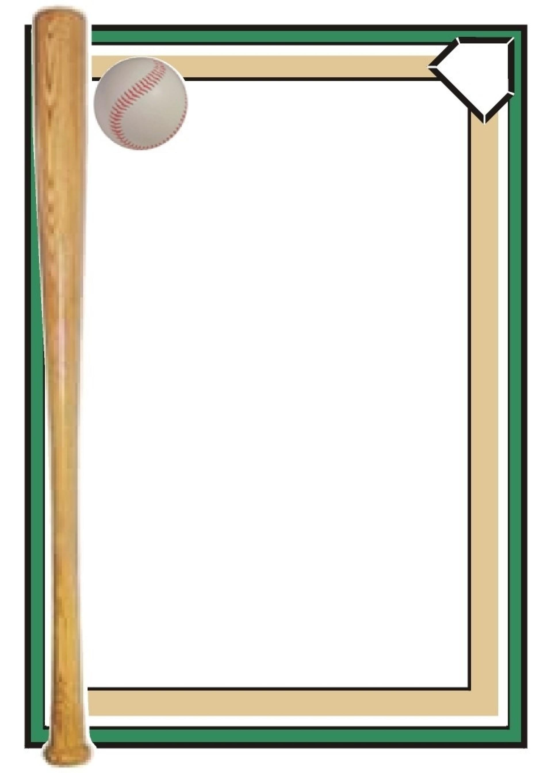 012 Template Ideas Baseball Card Free Borders Clipart Best Word.