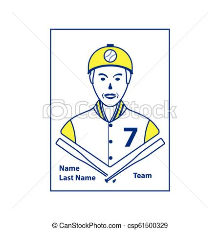 Baseball card icon.