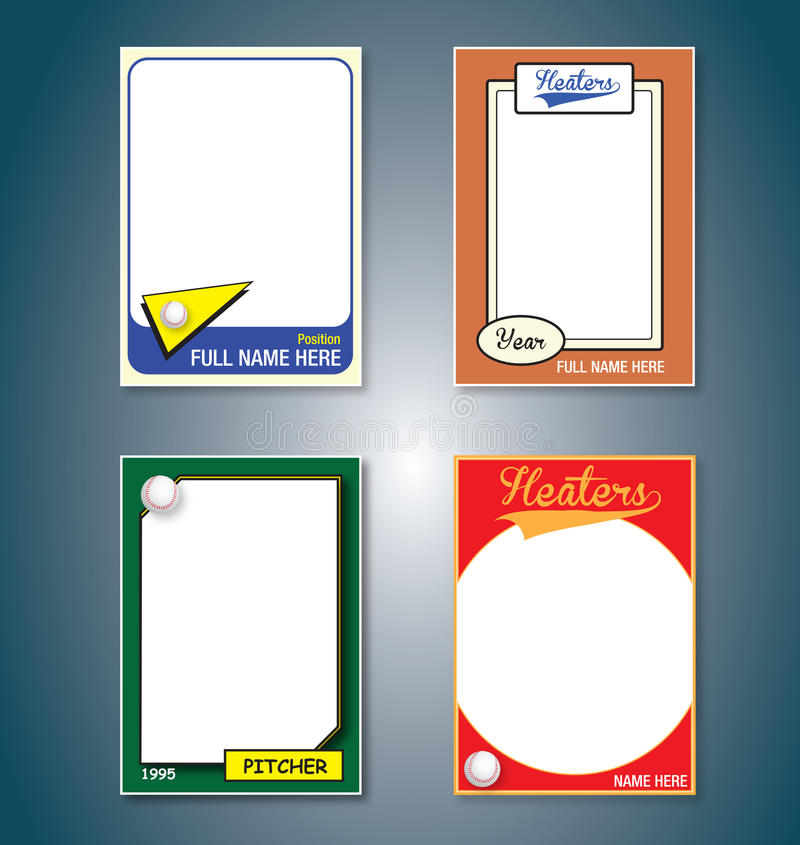 Baseball Border Card Stock Illustrations.