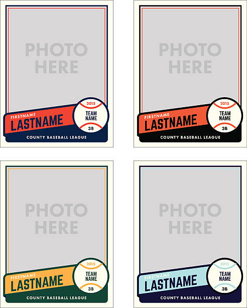 Baseball Cards Illustrations, Royalty.