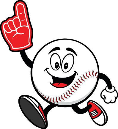 Cartoon Baseball Ball.