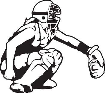 Softball catcher clipart images.