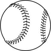 Baseball Clipart Black And White Free.