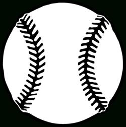 15 Baseball Black And White free clipart.