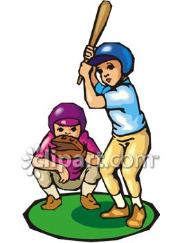 Child Baseball Player Clipart.