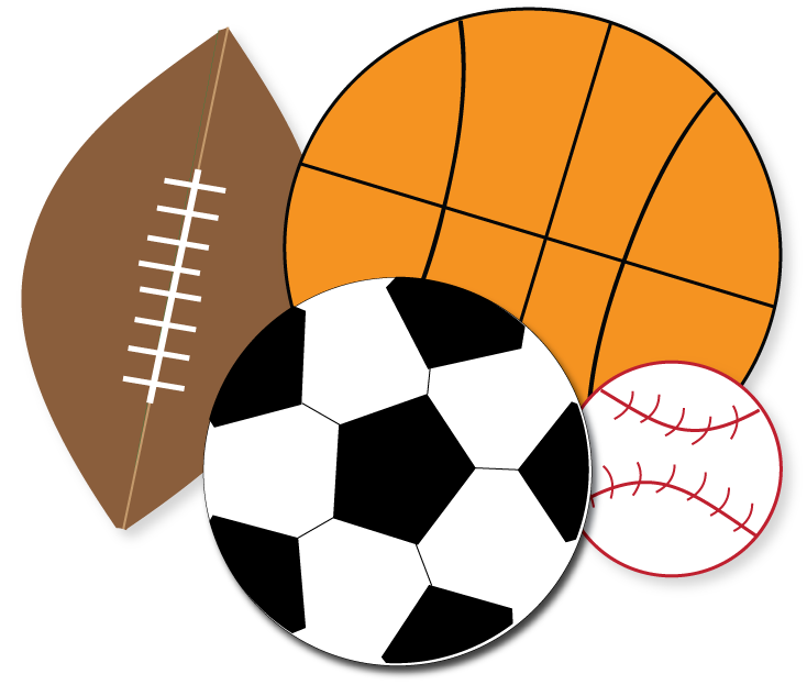 Free Sports Clipart for parties, crafts, school projects.