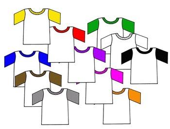 Free Clip Art~Baseball T Shirts.