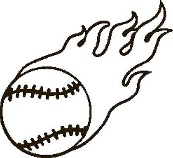 Baseball Clip Art Black And White.