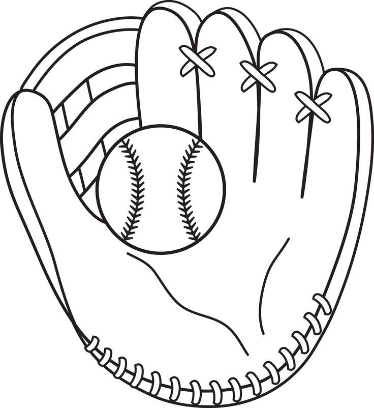 Baseball Line Art.
