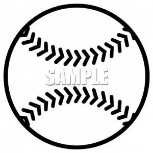Black And White Baseball Field Clipart.