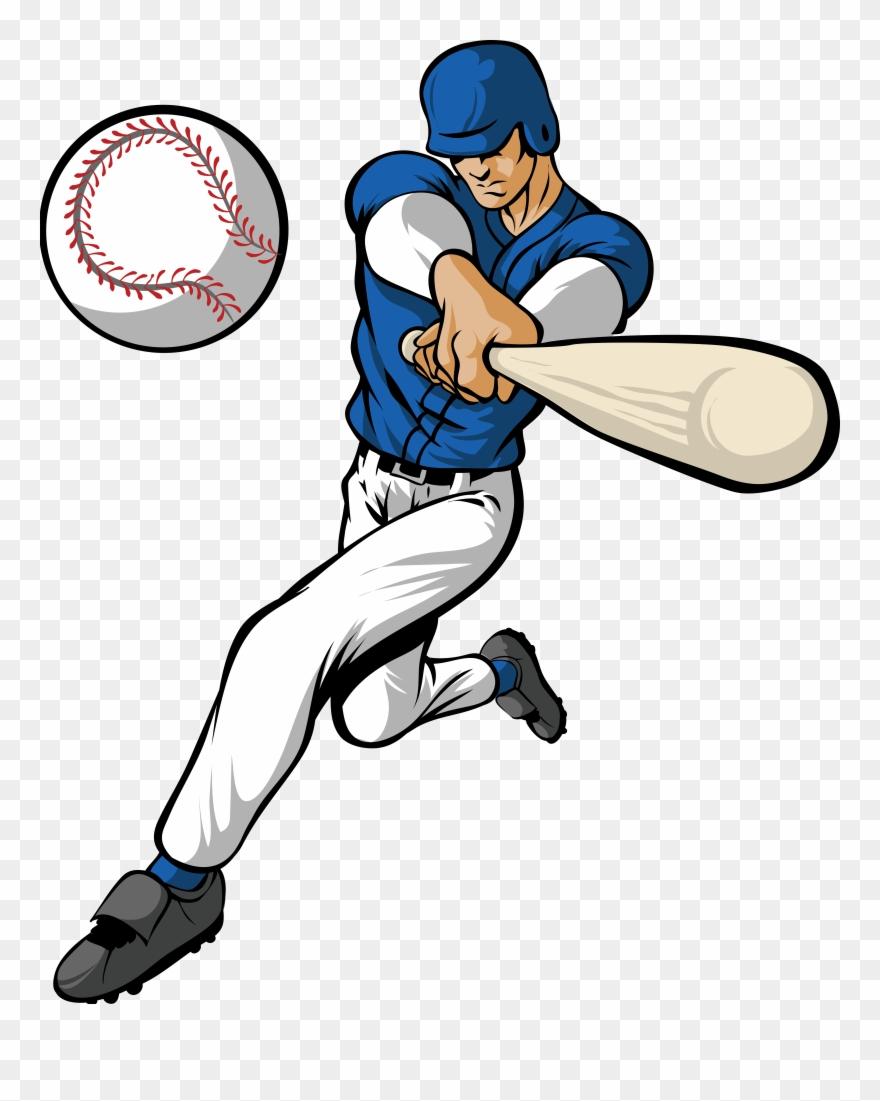 Hitting A Baseball Clipart Amp Hitting A Baseball Clip.