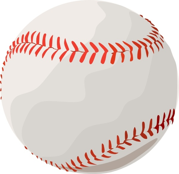 Baseball clip art Free vector in Open office drawing svg.