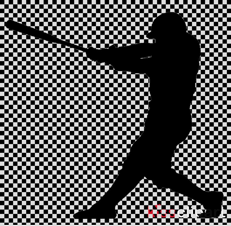 silhouette solid swing+hit baseball bat baseball player.