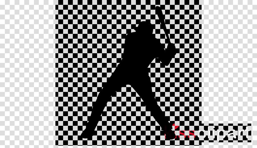 baseball bat solid swing+hit silhouette baseball player.