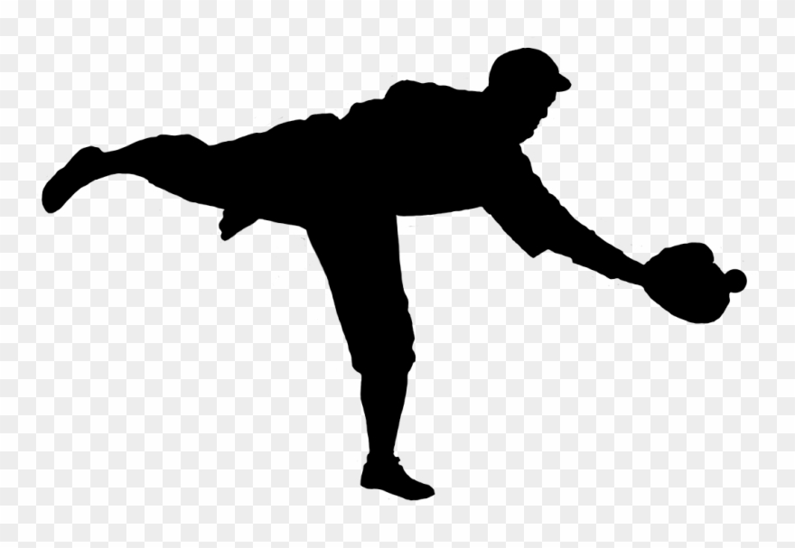 Clip Art Black And White Download Silhouette Of Player.