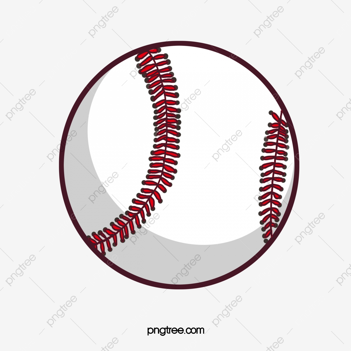 Creative Cartoon Baseball, Cartoon Clipart, Baseball Clipart.
