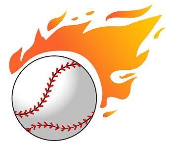 Baseball flame Clipart Picture Free Download.