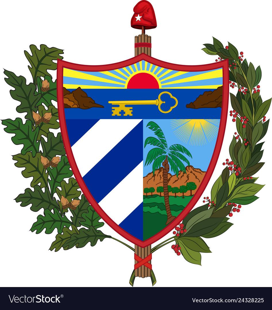 Coat of arms of republic of cuba.