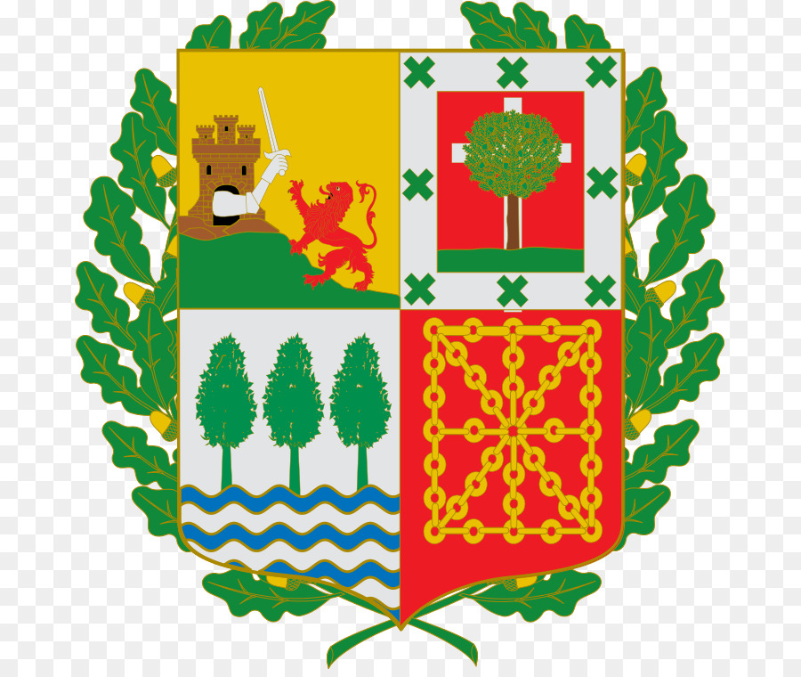 Coat of arms of Basque Country Navarre Basque language.
