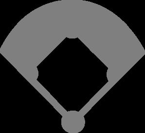Baseball Diamond Clipart Black And White.