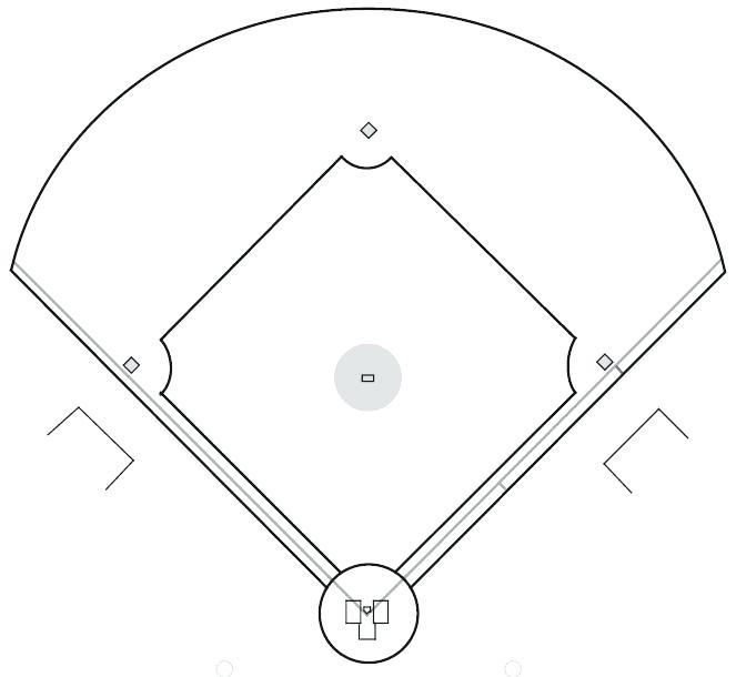 208 Baseball Diamond free clipart.
