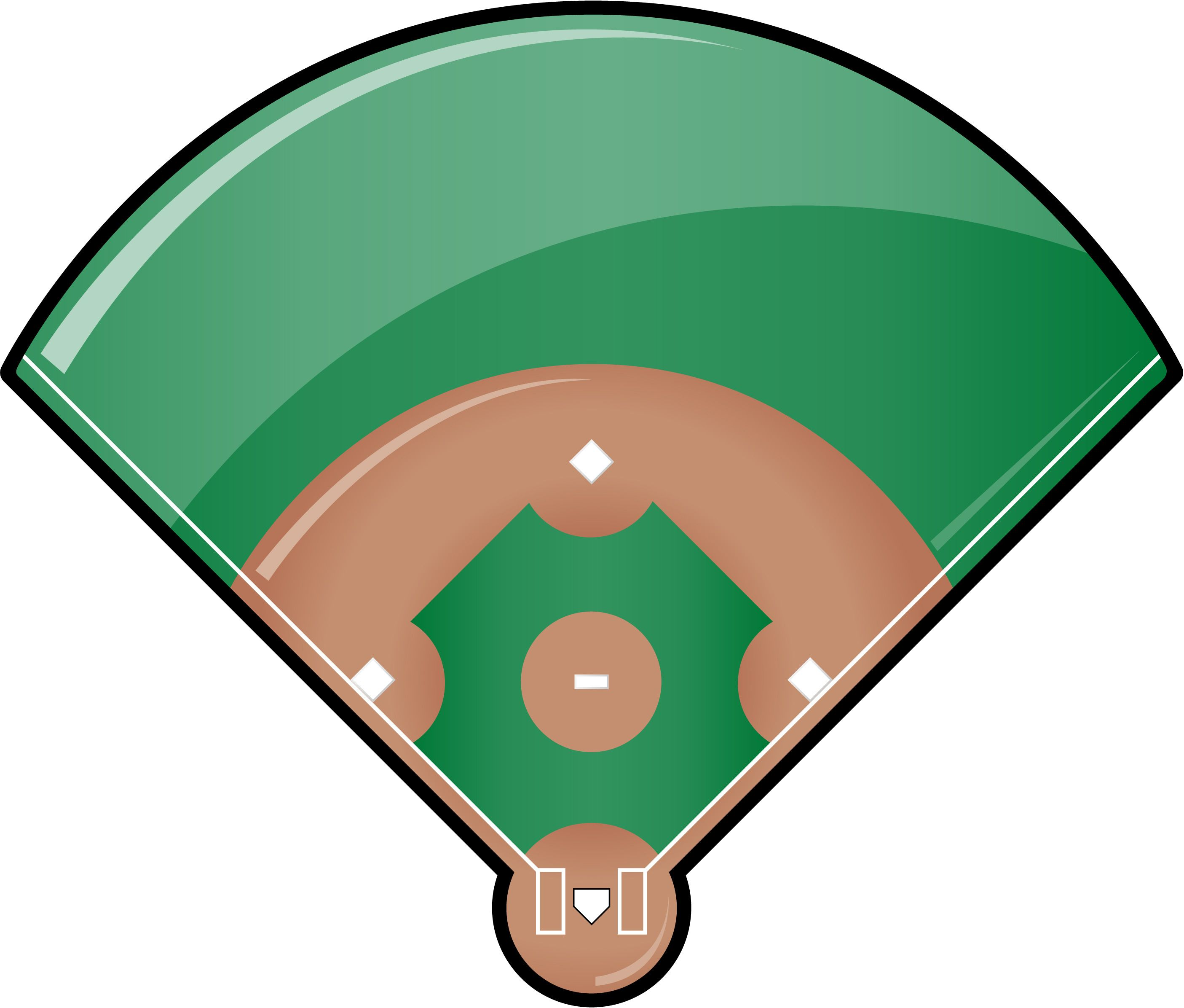 This is best Baseball Field Clip Art #4781 Baseball Field.
