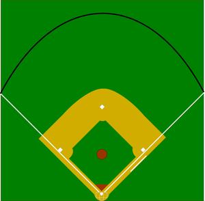 Free Clipart Of Baseball Diamond.