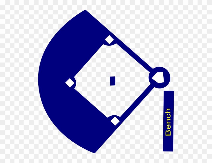 Baseball Field Navy Clip Art.