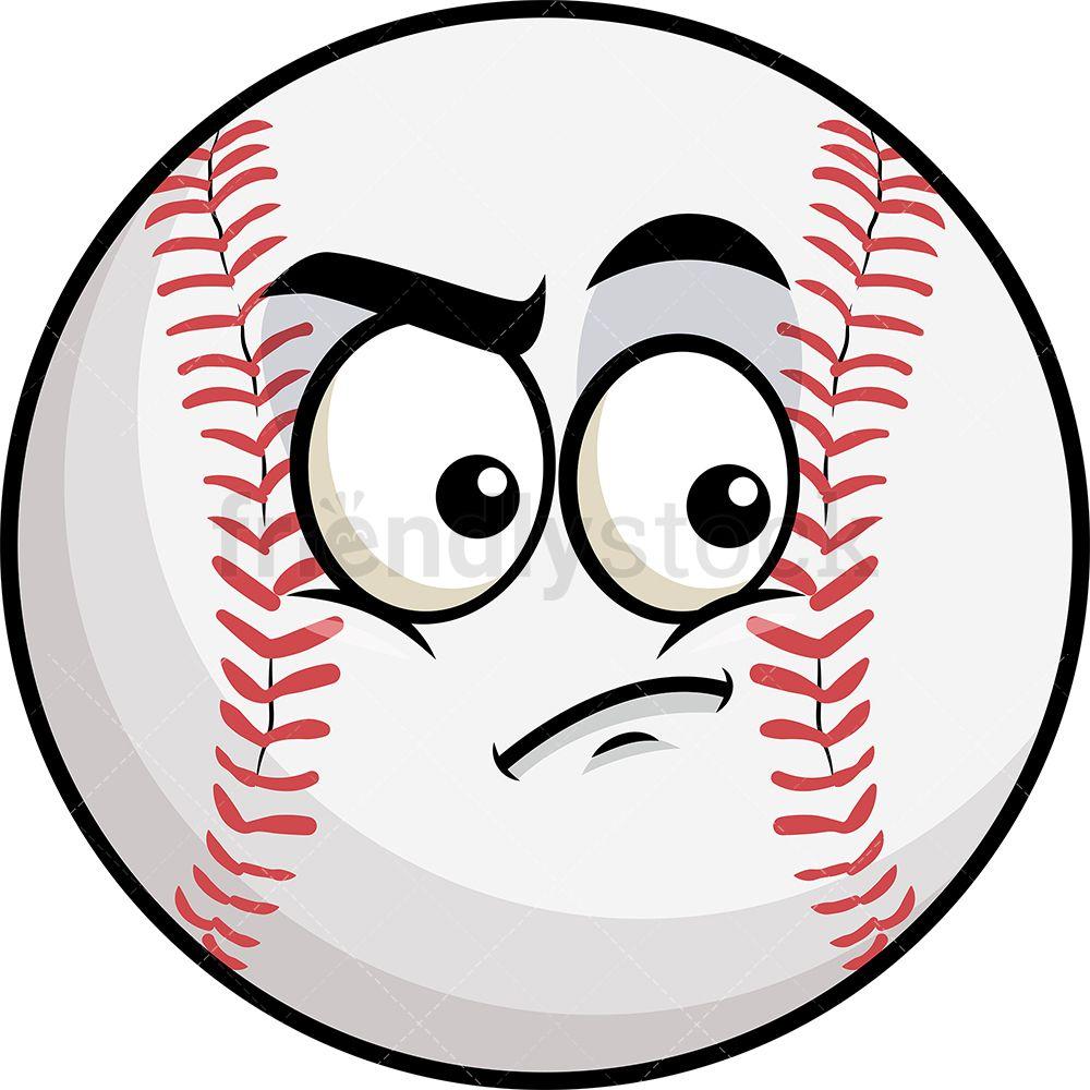 Irritated Baseball Emoji.