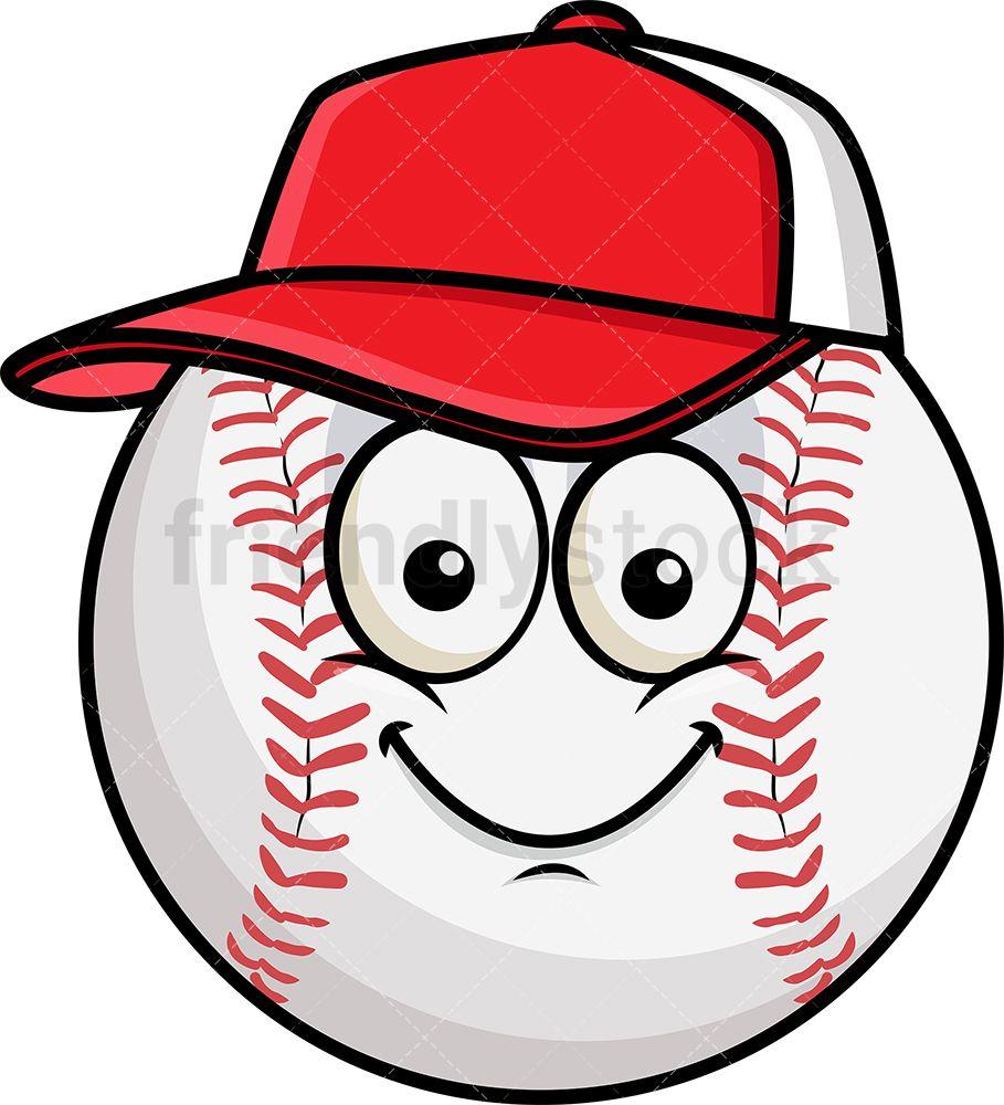 Baseball Wearing Hat Emoji.