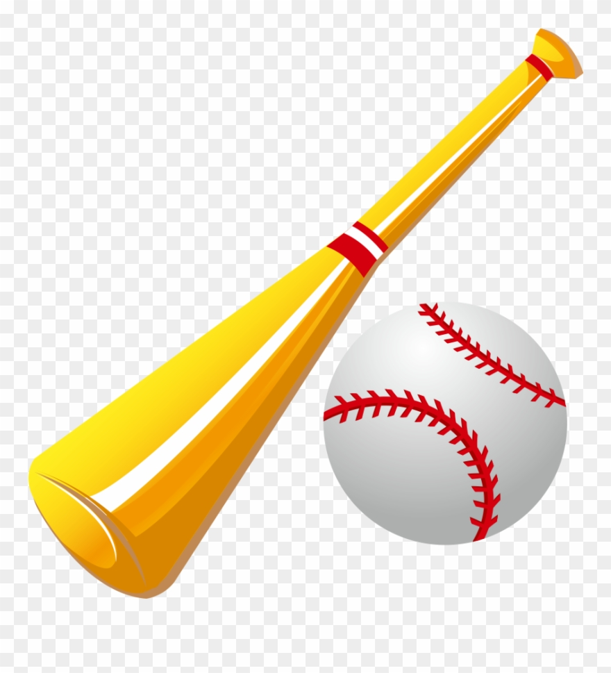 Black And White Library Baseball Equipment Clipart.