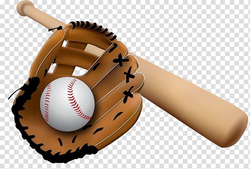Baseball glove Baseball bat , Baseball transparent background PNG.