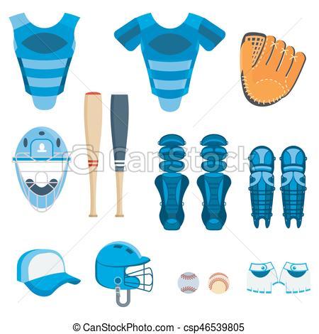 baseball protect equipment.
