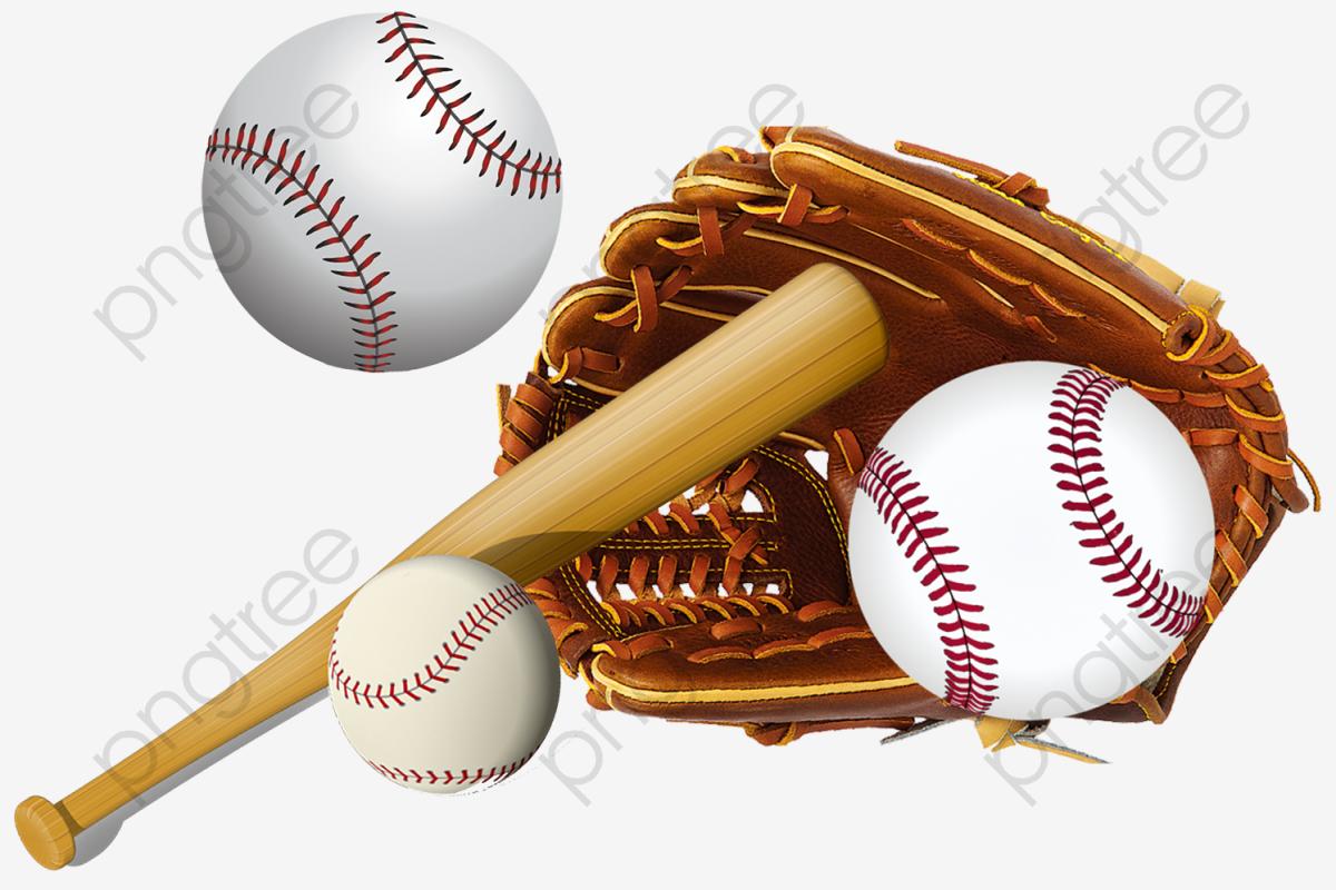 Baseball, Baseball Bat, Baseball Gloves PNG Transparent Clipart.