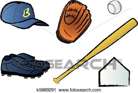 Baseball Gear Clipart.
