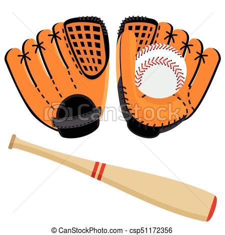 baseball equipment set.