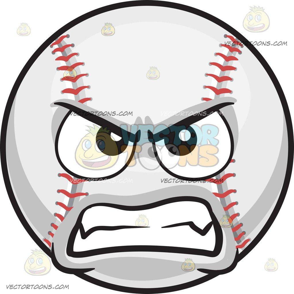 Angry Baseball Clipart.