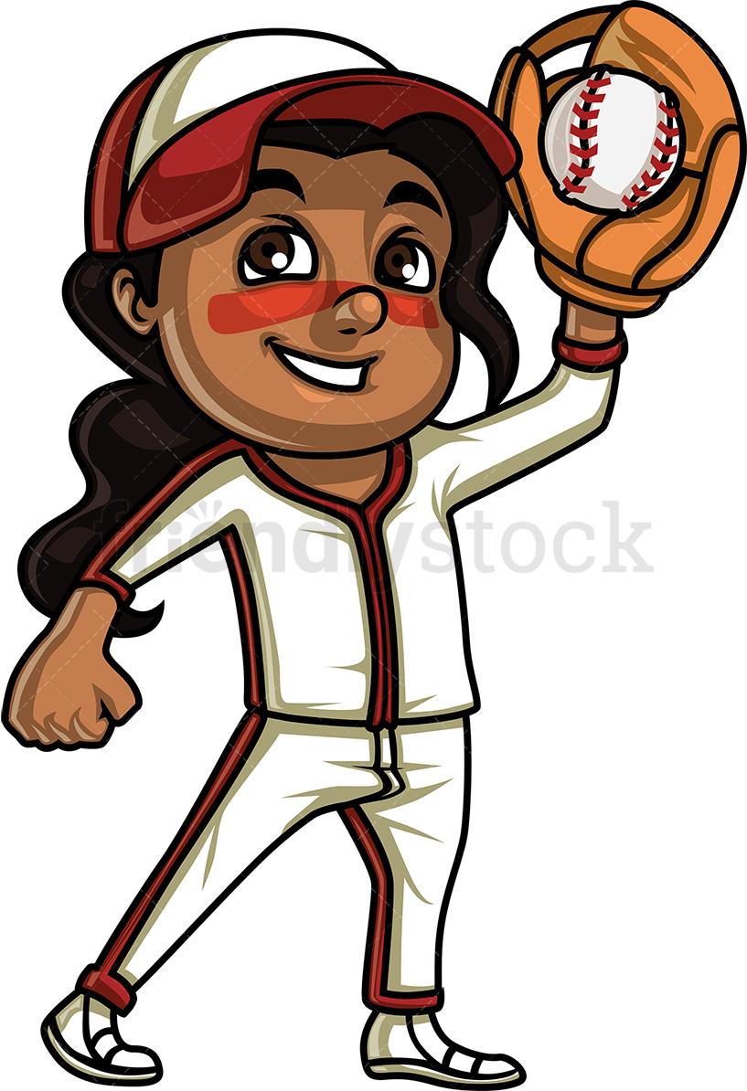 Little Girl Baseball Fan.