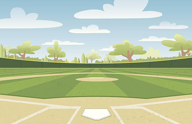 Best Baseball Field Illustrations, Royalty.