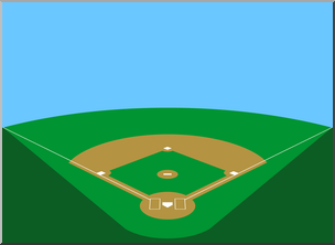 Clip Art: Baseball Field 2 Color 1 I abcteach.com.