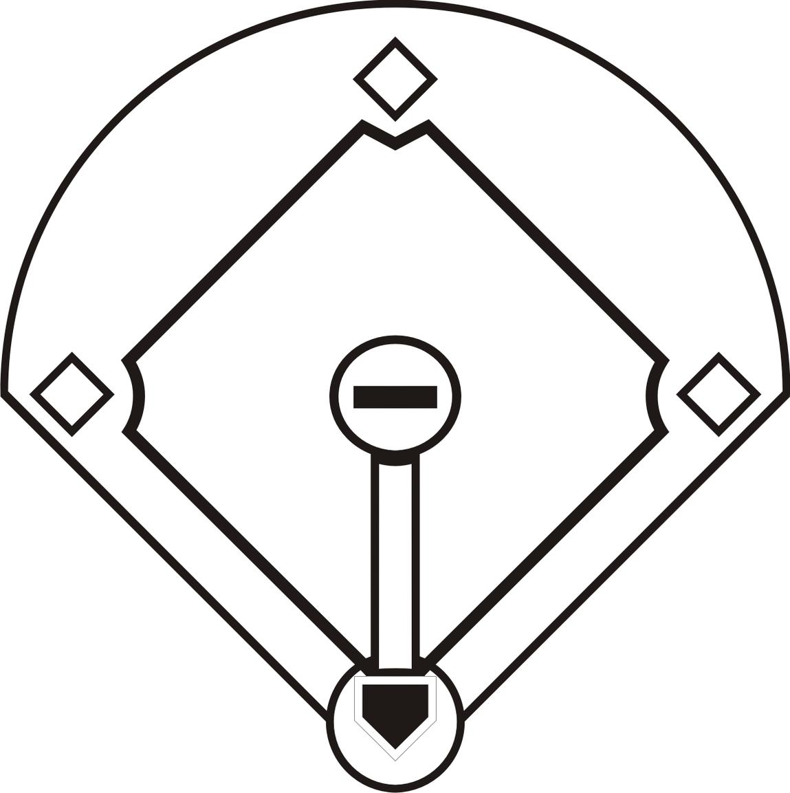Baseball field clip art images.