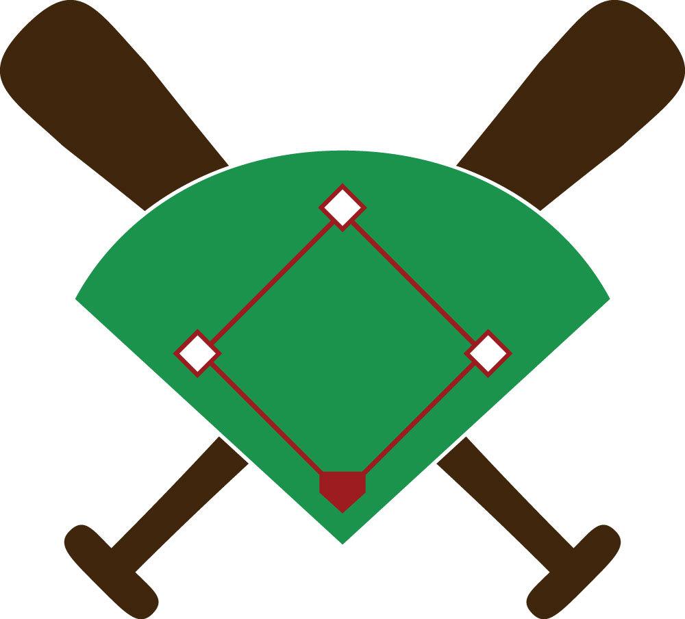 Baseball field clipart free.