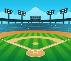Baseball Diamond Free Vector Art.