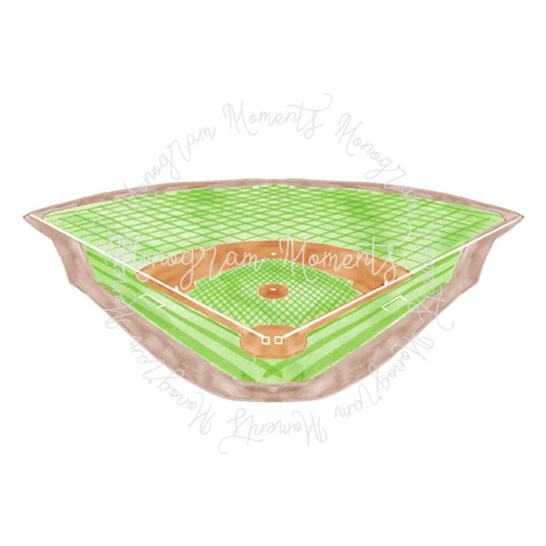 Watercolor Baseball PNG.