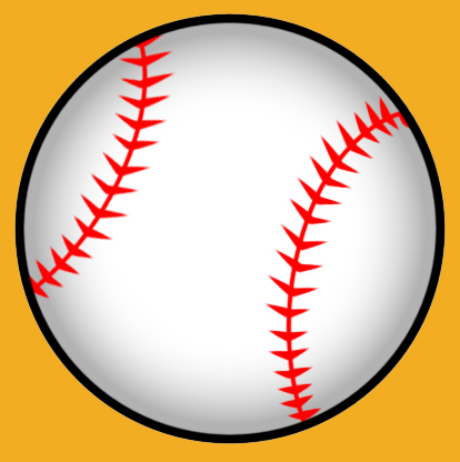 Flying Baseball Ball Clipart.