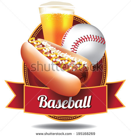 Baseball Food Stock Images, Royalty.