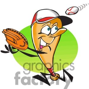 Showing post & media for Cartoon baseball player with food.
