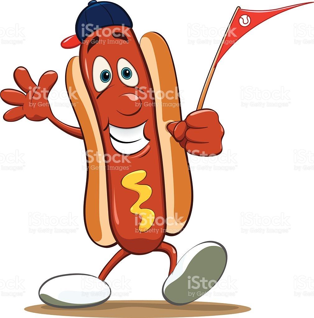 Hot Dog Baseball Fan stock vector art 479377482.