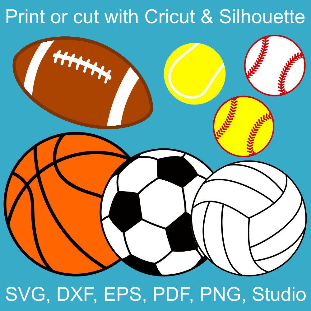 Sports Balls SVG bundle, basketball, volleyball, football.