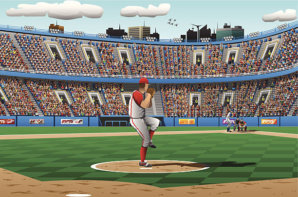Illustration of pitcher in a baseball game » Clipart Station.